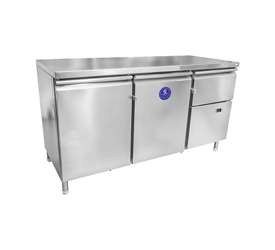 KARISHMA STAINLESS STEEL HORIZONTAL REFRIGERATOR & FREEZER WITH TABLE TOP